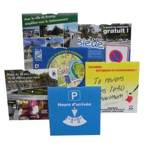 Disque de stationnement européen personnalisé Format 15×15 France