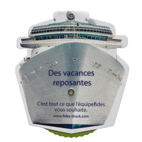 étiquette forme de bateau recto