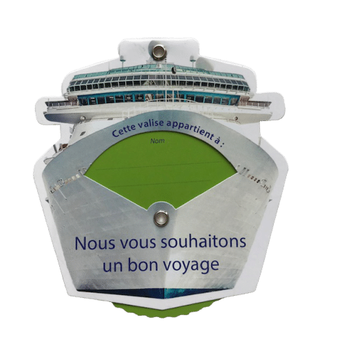 Etiquette bagage en forme de bateau