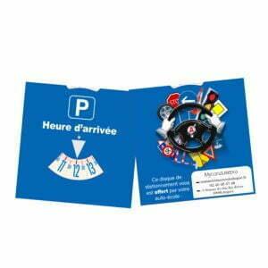 Disque de stationnement européen typé auto-école Format 15×15 France